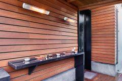 Place for smokers in Leonardo restaurant