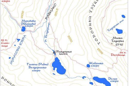 Χάρτης των Λιμνών Μπεντερίσκι | Lucky Bansko SPA & Relax