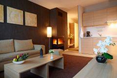 Aparthotel Lucky Bansko SPA & Relax Deluxe σουίτα και κουζίνα
