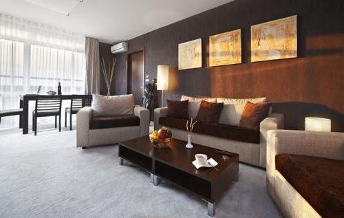 Lucky Bansko Aparthotel SPA & Relax | Φωτογραφία σαλονιού στο διαμέρισμ Executive